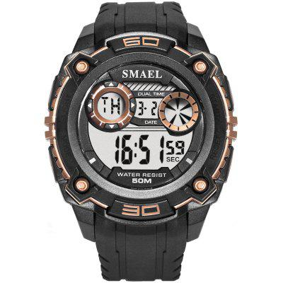 Men Watches 50m Waterproof SMAEL Top Brand LED Sport S Shock Army Military 1390 Digital Wristwatches