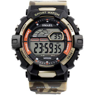 Waterproof Sport Watches LED SMAEL Relojes Hombre Men Watch Big Military Army 1527 Silicone Digital Wrsit for