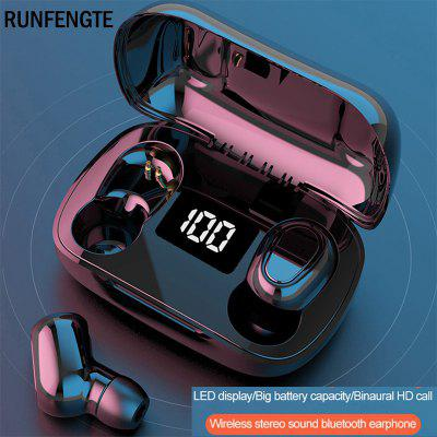 RUNFENGTE Wireless Bluetooth Earphone TWS 5.0 Earphones IPX5 Charging Box Wireless Headphone 9D Stereo Sports Waterproof Earbuds With Microphone akg 3 5mm wired in line earphones stereo earbuds