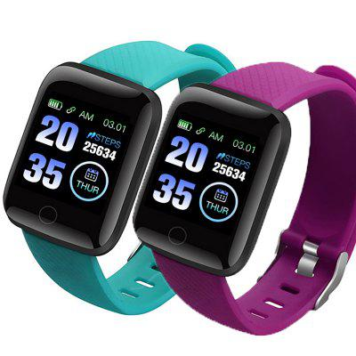 2PCS 116plus Smart Bracelet Watch Heart Rate Oximeter Blood Pressure Monitoring Tracker IP67 Waterproof android ios smart watches Band