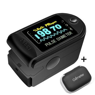 RUNFEGNTE 2PCS Digital Finger Oximeter Portable Electronic LED Display Fingertip Pulse With EVA Bag