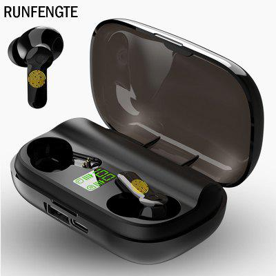 купить RUNFENGTE New Wireless Bluetooth Earphone TWS 5.0 Earphones IPX5 Semi-in-ear Charging Box 9D Stereo Sports Waterproof Earbuds Headsets With Microphone в интернет-магазине