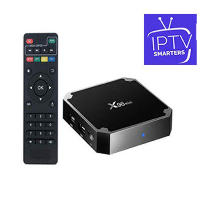HD WORLD IPTV Iptvsmarters 1 Year With X96 Mini TV Box 1G/8G HD Global 9000+Live 9000+VOD For USA France Europ Arabic Image