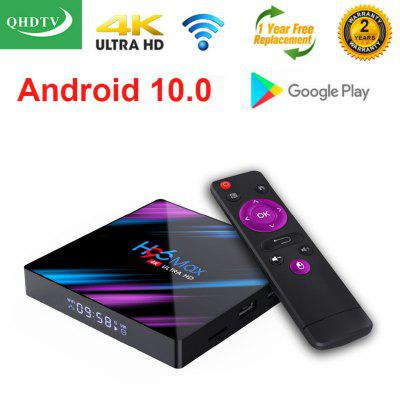 Leadcool 1 Year QHDTV H96 MAX Plus Android 10.0 TV BOX Amlogic S905X3 Quad Core Smart tv Box 32GB 64GB 1800+Channels IPTV Subscribe Image