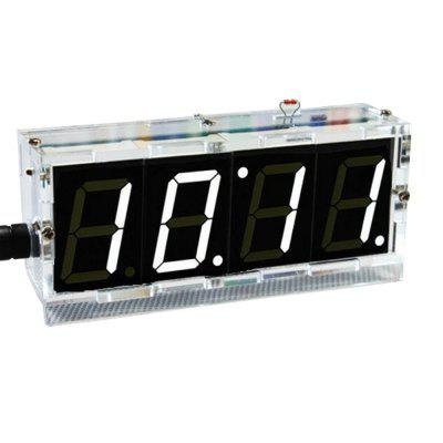 ONEHP DIY 4 Digit Digital Clock Kit Electronic Welding Project Kit Light Control Industrial Control 1 Inch LED Electronic Kit