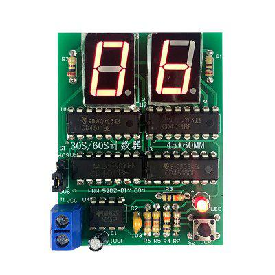 ONEHP 30s 60s Counter Timer Simple Stopwatch Digital Electronic Technology practice and Training Kit