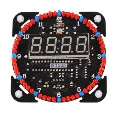 ONEHP Electronic Clock DIY Kit Light Control Digital Display Module MCU LED Components Assembly