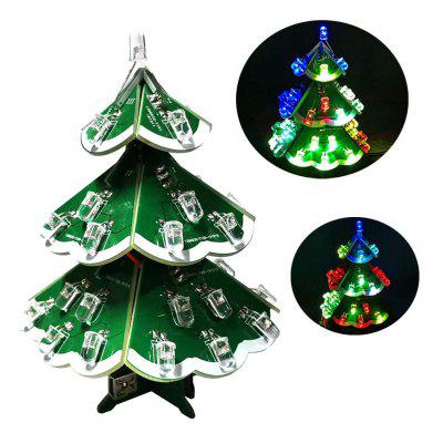ONEHP New Type DIY Christmas Tree Seven Color Electronic Welding Practice Project Assembly Pack