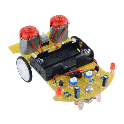 ONEHP DIY Track Car Intelligence Model Soldering Project Electronic Practice Kit for Student and Children Toys