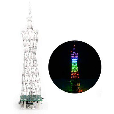 ONEHP 9 Story Guangzhou Tower DIY Electronic kit Music Spectrum Wireless Remote Control Welding unassembled