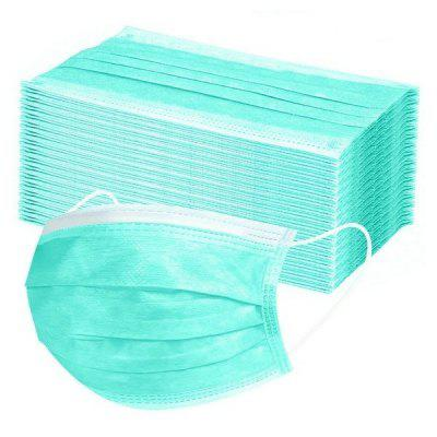 50 PCS Disposable Nonwove 3 Layer Ply Filter Mouth Face Safe Breathable Dustproof Protective