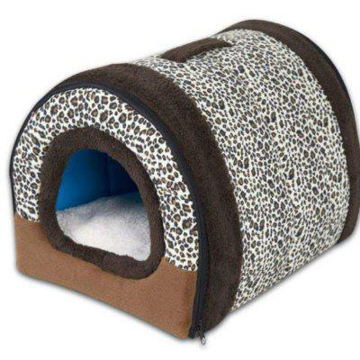 Winter Puppy Dogs Cats House Collapsible Warm Soft Pet Bed Kennel for Large Dog S-L-2XL