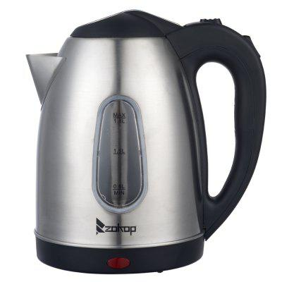 ZOKOP HD-1802S 220V 2000W 1.8L Stainless Steel Electric Kettle with Water Window