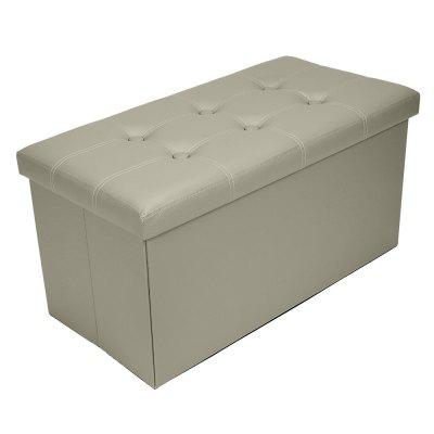 FCH PU Leather Footstool with White 76BY38BY38cm