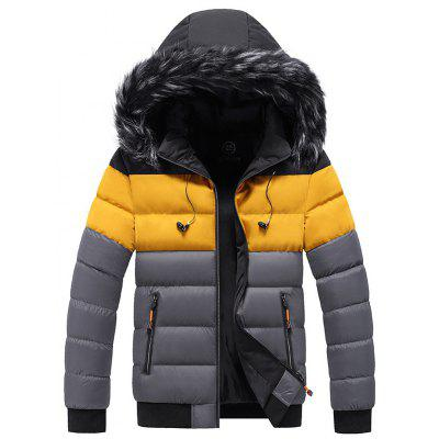 S-5XL Winter Men Fashion Jacket New Style Hooded Thicken Warm Down Cotton  Tops Casual Coat for