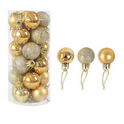 24pcs 4cm Christmas Tree Decor Ball Bauble Gold Silver Plastic Hanging Ornaments Decorations Ornament