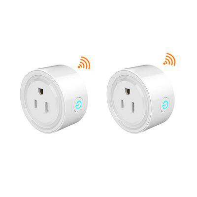 Mini US Wifi Plug Smart Timing Socket Wireless Outlet Voice Control Smart Socket Work with Alexa Google Home Tuya APP