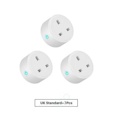 UK 16A Smart Plug Wifi Smart Socket Energy Monitor Timing Function Smart Life APP Remote Control Works With Alexa Google Home