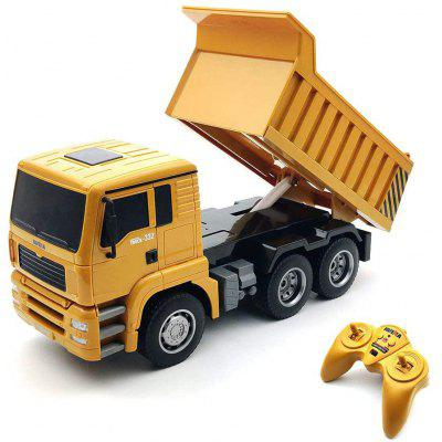 RCtown 332 6 Channel RC Dump Truck Remote Control Construction Vehicle Toy with Sound and Light