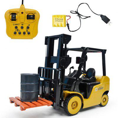 Remote Control Car 11CH Forklift Rechargeable with Light and Music Engineering Crane Hook Vehicle Toys Model
