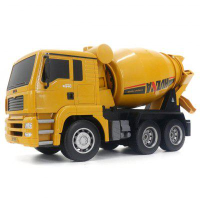 HUINA 1333 6CH Die-Cast Alloy Remote Control Mixer Engineering Truck Toys Static Model Caterpillar Wheel Kids RC Gift