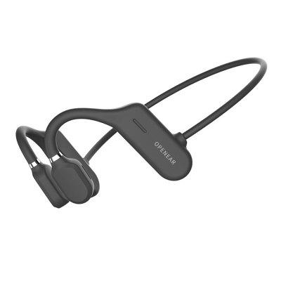 Sports Bluetooth Wireless Headphone 6D Bone Conduction Handsfree Driving Neckband IPX6 Waterproof Earphone with Mic for Phone