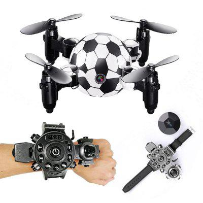 Intelligent High-tech Mini Folding Remote Control Four-axis UAV Football-Shaped Watch Aaircraft