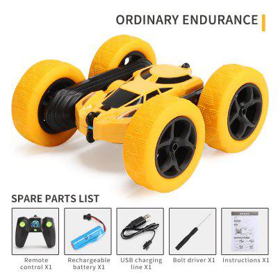 Double Sided 360 Rotation Tumbler Twister Stunt Car 2.4g Battery Charged  Fall Resistant Light Remote Control for Children