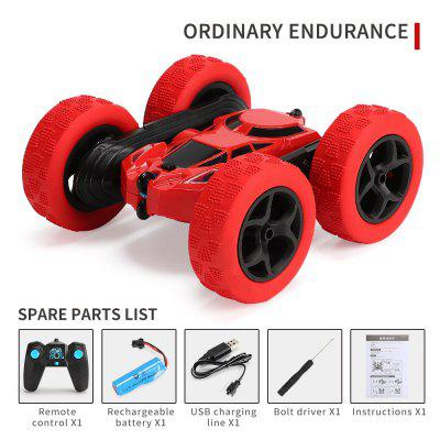Double Sided 360 Rotation Tumbler Twister Stunt Car 2.4g Battery Charged  Fall Resistant Light Remote Control Car for Children new arrival meke meike mk760dpro 2 4g wireless remote control battery grip holder for canon eos 760d 750d