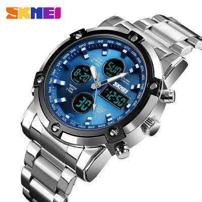 Mens Watches Top Luxury Brand Sports Watch Countdown Stainless Steel Strap Quartz Wristwatch Men Clock