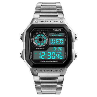 Top Luxury Fashion Sport Watch Men Clock 5Bar Waterproof Watches Stainless Steel Strap Digital