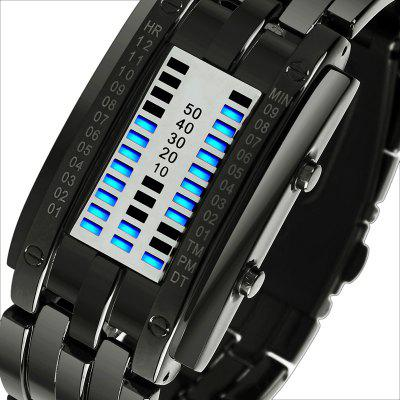 Skmei Fashion Creative Sport Watch Men Stainless Steel Strap LED Display Watches 5Bar Waterproof Digital