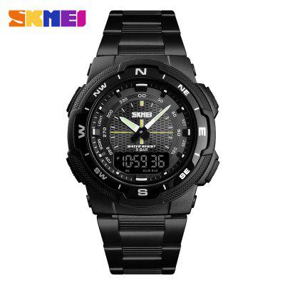 Watch Men Fashion Sport Watches Stainless Steel Strap Mens Stopwatch Chronograph Waterproof Wristwatch