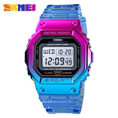 Fashion Cool Girls Watches Electroplated Case Transparent Strap Lady Women Digital Wristwatch Shockproof reloj mujer 1622