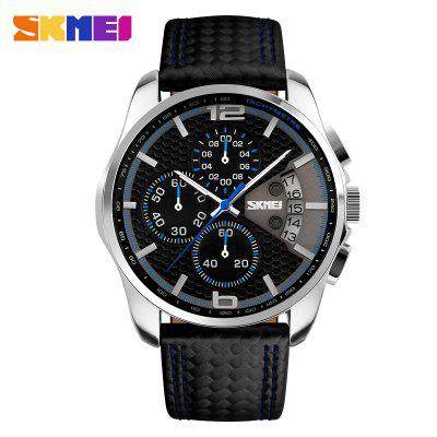 Fashion Sport Men Watches Top Brand Luxury Leather Strap 5Bar Waterproof Quartz Wristwatches
