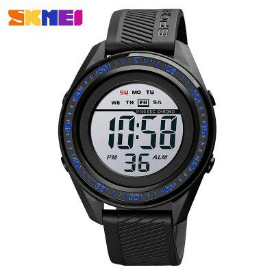 Multifunction Sport Men Watch LED Backlight Waterproof Digital Wristwatches PU Leather Strap Simple