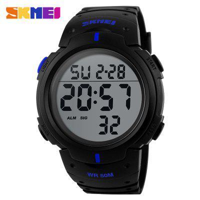 Outdoor Sport Watch Men Clock Big Dial Fashion Simple Watches Calendar PU Strap Waterproof Led Digital Reloj Hombre