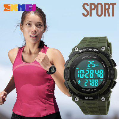 SKMEI Outdoor Military Men Sport Watches Chronograph Pedometer 50M Waterproof Male Wristwatches relogio masculino Digital 1112