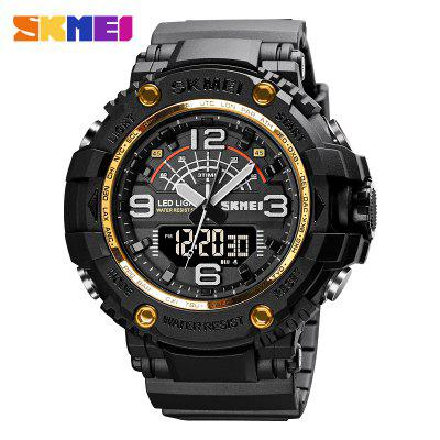 SKMEI Military 3 Times Watches Men Japan Chinese Movement Wristwatches Hour Shockproof Waterproof Large Dial reloj hombre 1617