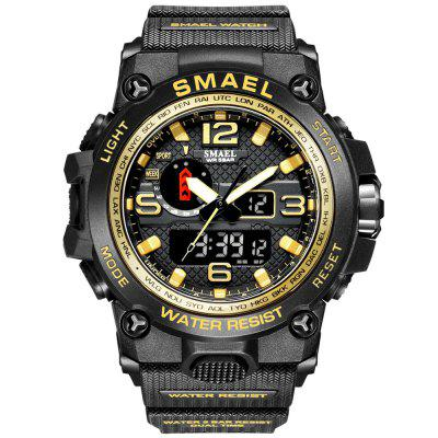 SMAEL Fashion Mens Watches LED Sport Waterproof Top Luxury Brand Digital Male Quartz Wrist Watch Relogio Masculino