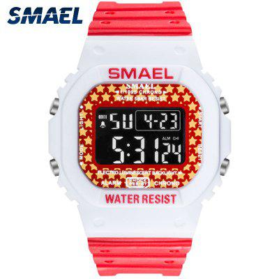 SMAEL Digital Watch Men Sports Watches LED Military Army Camouflage Wrist For Boy Waterproof Top Brand Student Stopwatch
