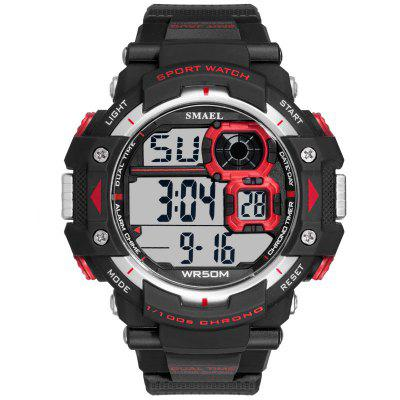2020 SMAEL Brand Men Watches Big Dial Alarm Clock Sport LED Digital Waterproof Military 1379