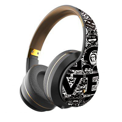 JZYB B1 Graffiti Bluetooth 5.0 Heaphone Long Standby HIFI High Fidelity Comfortable Over-Ear Earmuffs Cheap Wireless Headset
