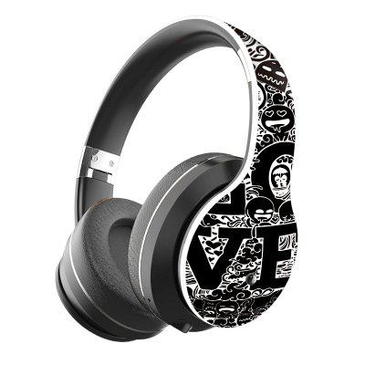 Фото - JZYB B1 Graffiti Bluetooth 5.0 Heaphone Long Standby HIFI High Fidelity Comfortable Over-Ear Earmuffs Cheap Wireless Headset men casual shoes leather fashion vintage soft loafers plus size breathable slip on and lace up shoes comfortable chaussure homme