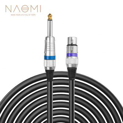 NAOMI 6.35 mm Mono to XLR Male Microphone Cable Quarter inch TS 3 Pin Unbalanced Interconnect