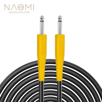NAOMI 6.35mm Jack To 1/4 Angle Head Audio Aux Cable Adapter Double Guitar