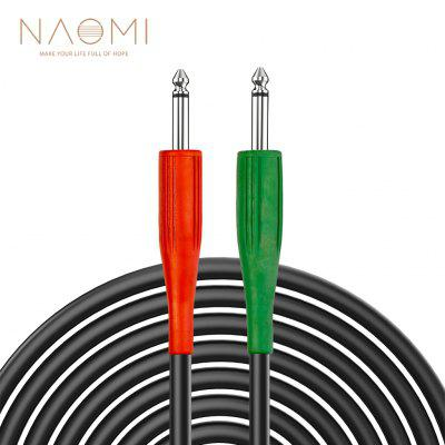 NAOMI 1/4 inch TS Cable Heavy Duty 6.35mm Male to Stereo Jack Balanced Audio Patch Cord Interconnect