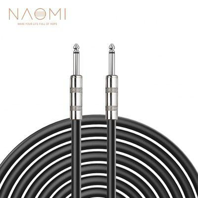 NAOMI 6.35mm Jack Audio Cable 6.5mm Male To Adapter Connector For Guitar & Bass Length 3m
