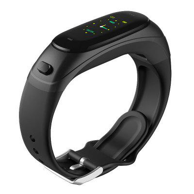 V08S Color Screen Smart Bracelet Bluetooth Headset 2-in-1 / A High-End Silicone Can Talk Exercise Step Heart Rate and Blood Pressure Monitoring