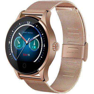 Bluetooth Smart Watch Fitness Tracker Wrist Pedometer Heart Rate Monitor Round IPS Screen Compatible with Android iOS